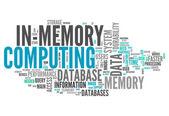 Slovo cloud computingu v paměti — Stock fotografie