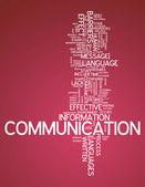 Word Cloud Communication — Stock Photo