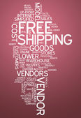 Word Cloud Free Shipping — Stock Photo