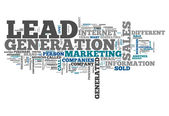 Word Cloud Lead Generation — Stock Photo