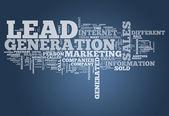 Word Cloud Lead Generation — Stock Photo
