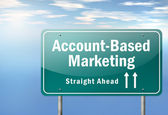 Highway Signpost Account-Based Marketing — Stock Photo
