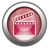Icon, Button, Pictogram Clapperboard — Stock Photo