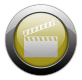 Icon, Button, Pictogram Clapperboard — Stockfoto