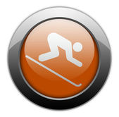 Icon, Button, Pictogram Downhill Skiing — Stock Photo