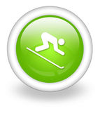 Icon, Button, Pictogram Downhill Skiing — Zdjęcie stockowe