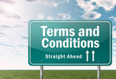 Highway Signpost Terms and Conditions — Stock Photo