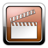 Icon, Button, Pictogram Clapperboard — Stock fotografie