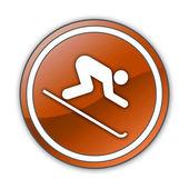 Icon, Button, Pictogram Downhill Skiing — Stockfoto