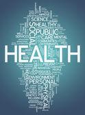 Word Cloud Health — Stock Photo
