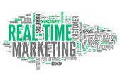 Marketing en tiempo real de nube de palabras — Foto de Stock