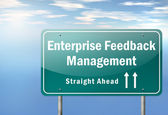 Highway Signpost Enterprise Feedback Management — Stock Photo