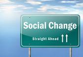 Highway Signpost Social Change — Stock Photo
