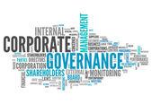 Word Cloud Corporate Governance — Stock Photo