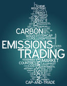 Word Cloud Emissions Trading — Stock Photo