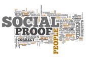 Word Cloud Social Proof — Stock Photo
