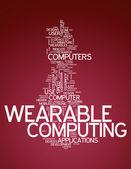 Word Cloud Wearable Computing — Stock Photo