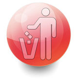 Icon, Button, Pictogram Litter Container — Stock Photo