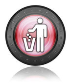 Значок, кнопки, пиктограммы мусор контейнер — Стоковое фото