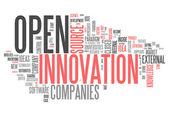 Słowo chmura otwartej innowacji — Zdjęcie stockowe