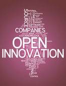 Word Cloud Open Innovation — Stock Photo