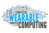 Word Cloud Wearable Computing — Stock Photo