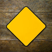 Yellow sign — Stock Photo