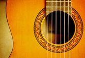 Klassisk vänster hand gitarr — Stockfoto