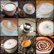 Coffee collage — Stock fotografie #39741757
