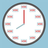 Working time — Stock Vector