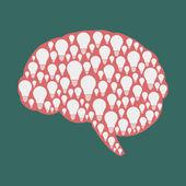 Idea in brain — Stock Vector