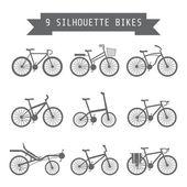 Black bicycle — Stock Vector