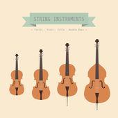 ヴァイオリン属 — ストックベクタ
