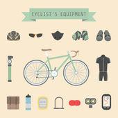 Cyclist's gear — Stock Vector