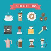 Kahve simgesi — Stok Vektör