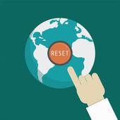 Restablecer la tierra — Vector de stock