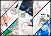 Hospital work. Medical Collage. — Stock Photo