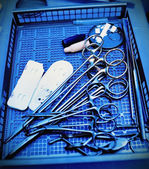 Surgical instruments. Medical concept. Stylized photo. — Stock Photo
