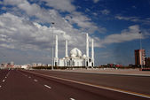 Astana Mosque in stormy day. — Stock Photo
