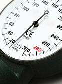 Scale of pressure-gauge. Pointer at zero — Stock Photo