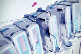 Complex of medical equipment at work — Stock Photo