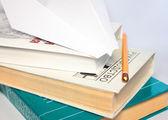 Papírové letadlo během studie — Stock fotografie