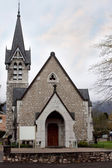 Small Catholic church in the Gothic style — 图库照片