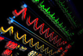 Monitor in medicine. Abstract medical background — Stock Photo