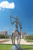 Statue in the Kazakh national style in the center of Astana. — Stok fotoğraf