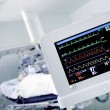 Cardio monitor in working with the patient — Foto Stock