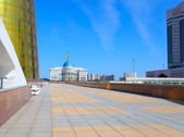 Astana. Urban landscape with the presidential palace — Stock Photo
