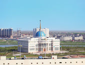 Cityscape of Astana with AK Orda — Stock Photo