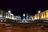 Night town square of Astana — Stock Photo