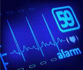 ECG alarm on medical monitor — Stock Photo